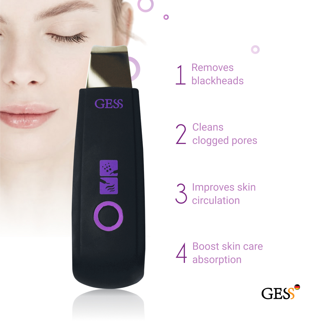 Ultrasound facial cleansing device